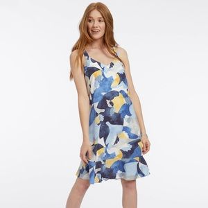 NIC + ZOE Sun Seeker Print Tank Ruffle Hem Dress